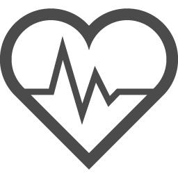 ハートの心電図のアイコン素材 1 アイコン素材ダウンロードサイト Icooon Mono 商用利用可能なアイコン素材が無料 フリー ダウンロードできるサイト
