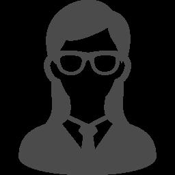 メガネをかけた女性のアイコン素材 アイコン素材ダウンロードサイト Icooon Mono 商用利用可能なアイコン素材が無料 フリー ダウンロードできるサイト