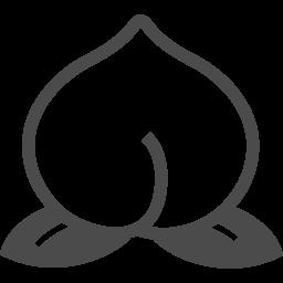 桃のアイコン素材 3 アイコン素材ダウンロードサイト Icooon Mono 商用利用可能なアイコン素材が無料 フリー ダウンロードできるサイト