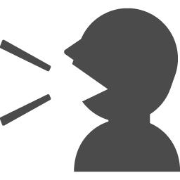 しゃべる人の無料アイコン アイコン素材ダウンロードサイト Icooon Mono 商用利用可能なアイコン素材が無料 フリー ダウンロードできるサイト