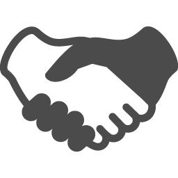 握手のイラスト アイコン素材ダウンロードサイト Icooon Mono 商用利用可能なアイコン素材が無料 フリー ダウンロードできるサイト