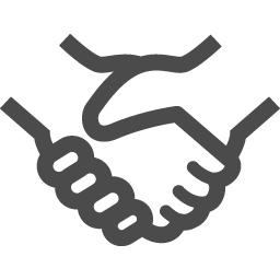 シンプルなハンドシェイクアイコン アイコン素材ダウンロードサイト Icooon Mono 商用利用可能なアイコン素材が無料 フリー ダウンロードできるサイト