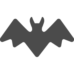 コウモリのイラストアイコン アイコン素材ダウンロードサイト Icooon Mono 商用利用可能なアイコン素材が無料 フリー ダウンロードできるサイト