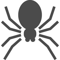 クモのフリーアイコン アイコン素材ダウンロードサイト Icooon Mono 商用利用可能なアイコン素材が無料 フリー ダウンロードできるサイト