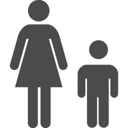 親子 母子 のアイコン アイコン素材ダウンロードサイト Icooon Mono 商用利用可能なアイコン 素材が無料 フリー ダウンロードできるサイト