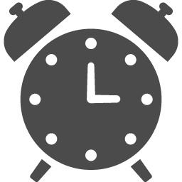 目覚まし時計アイコン アイコン素材ダウンロードサイト Icooon Mono 商用利用可能なアイコン 素材が無料 フリー ダウンロードできるサイト