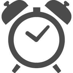 シンプルな目覚まし時計のアイコン アイコン素材ダウンロードサイト Icooon Mono 商用利用可能な アイコン素材が無料 フリー ダウンロードできるサイト