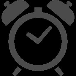 シンプルな目覚まし時計のアイコン アイコン素材ダウンロードサイト Icooon Mono 商用利用可能なアイコン素材が無料 フリー ダウンロードできるサイト
