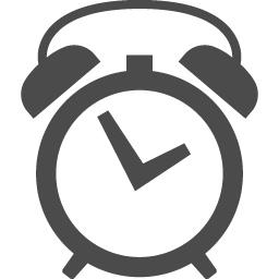 目覚まし時計のイラストアイコン アイコン素材ダウンロードサイト Icooon Mono 商用利用可能なアイコン 素材が無料 フリー ダウンロードできるサイト