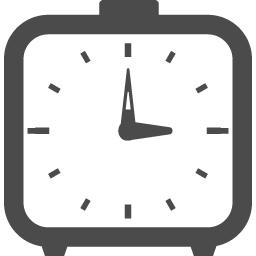 四角タイプの目覚まし時計アイコン アイコン素材ダウンロードサイト Icooon Mono 商用利用可能なアイコン素材が無料 フリー ダウンロードできるサイト