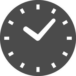 シンプルな丸時計のアイコン アイコン素材ダウンロードサイト Icooon Mono 商用利用可能な アイコン素材が無料 フリー ダウンロードできるサイト