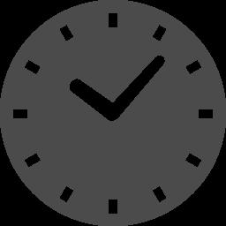 シンプルな丸時計のアイコン アイコン素材ダウンロードサイト Icooon Mono 商用利用可能なアイコン素材が無料 フリー ダウンロードできるサイト