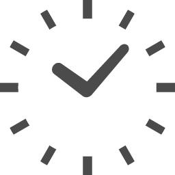 シンプルな時計アイコン アイコン素材ダウンロードサイト Icooon Mono 商用利用可能なアイコン素材が無料 フリー ダウンロードできるサイト