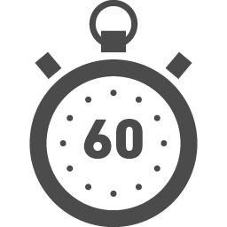 60秒を測るストップウォッチアイコン アイコン素材ダウンロードサイト Icooon Mono 商用利用可能なアイコン素材が無料 フリー ダウンロードできるサイト