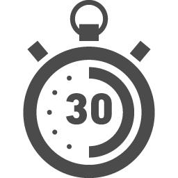 30秒を計測するストップウォッチアイコン アイコン素材ダウンロードサイト Icooon Mono 商用利用可能なアイコン素材が無料 フリー ダウンロードできるサイト