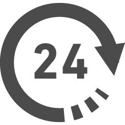 24時間営業マーク アイコン素材ダウンロードサイト Icooon Mono 商用利用可能なアイコン素材が無料 フリー ダウンロードできるサイト