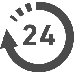 24時間営業アイコン アイコン素材ダウンロードサイト Icooon Mono 商用利用可能なアイコン素材が無料 フリー ダウンロードできるサイト