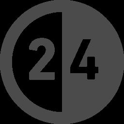 24時間営業マークのフリーアイコン アイコン素材ダウンロードサイト Icooon Mono 商用利用可能なアイコン 素材が無料 フリー ダウンロードできるサイト