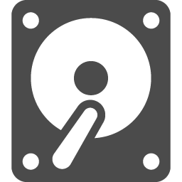 シンプルなハードディスクアイコン アイコン素材ダウンロードサイト Icooon Mono 商用利用可能なアイコン 素材が無料 フリー ダウンロードできるサイト