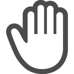 無料の手のひらアイコン アイコン素材ダウンロードサイト Icooon Mono 商用利用可能なアイコン素材が無料 フリー ダウンロードできるサイト