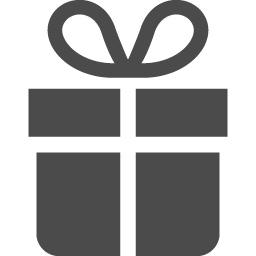 シンプルなプレゼントアイコン アイコン素材ダウンロードサイト Icooon Mono 商用利用可能なアイコン素材が無料 フリー ダウンロードできるサイト