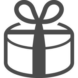 丸型プレゼントアイコン アイコン素材ダウンロードサイト Icooon Mono 商用利用可能なアイコン 素材が無料 フリー ダウンロードできるサイト