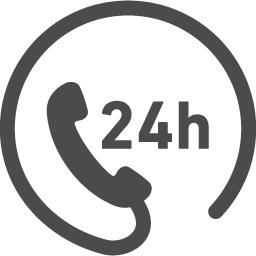 24時間フリーダイヤルアイコン アイコン素材ダウンロードサイト Icooon Mono 商用利用可能なアイコン 素材が無料 フリー ダウンロードできるサイト
