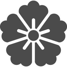 家紋っぽい花アイコン1 アイコン素材ダウンロードサイト Icooon Mono 商用利用可能なアイコン 素材が無料 フリー ダウンロードできるサイト