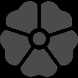 家紋っぽい花アイコン2 アイコン素材ダウンロードサイト Icooon Mono 商用利用可能なアイコン 素材が無料 フリー ダウンロードできるサイト