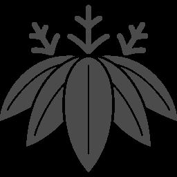 家紋っぽい笹の葉アイコン アイコン素材ダウンロードサイト Icooon Mono 商用利用可能なアイコン 素材が無料 フリー ダウンロードできるサイト