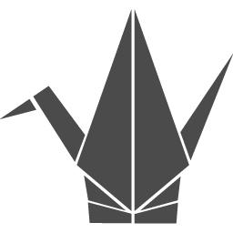 折り紙の折りヅルの無料アイコン アイコン素材ダウンロードサイト Icooon Mono 商用利用可能なアイコン素材が無料 フリー ダウンロードできるサイト