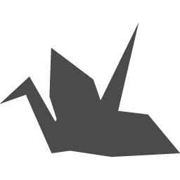 折り鶴のシルエット アイコン素材ダウンロードサイト Icooon Mono 商用利用可能なアイコン素材が無料 フリー ダウンロードできるサイト