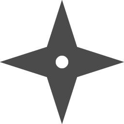 手裏剣のアイコン アイコン素材ダウンロードサイト Icooon Mono 商用利用可能なアイコン素材が無料 フリー ダウンロードできるサイト