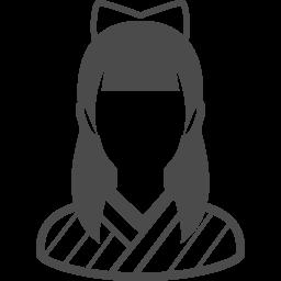 大正時代の女学生のフリーアイコン アイコン素材ダウンロードサイト Icooon Mono 商用利用可能なアイコン素材が無料 フリー ダウンロードできるサイト