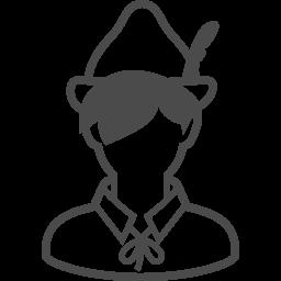 ピーターパンのフリーイラスト アイコン素材ダウンロードサイト Icooon Mono 商用利用可能なアイコン素材が無料 フリー ダウンロードできるサイト