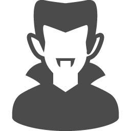 バンパイアのフリーアイコン アイコン素材ダウンロードサイト Icooon Mono 商用利用可能なアイコン 素材が無料 フリー ダウンロードできるサイト
