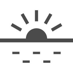 無料で使える日の出 日没アイコン アイコン素材ダウンロードサイト Icooon Mono 商用利用可能なアイコン素材が無料 フリー ダウンロードできるサイト