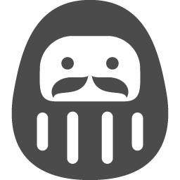 かわいい達磨のアイコン アイコン素材ダウンロードサイト Icooon Mono 商用利用可能なアイコン素材が無料 フリー ダウンロードできるサイト