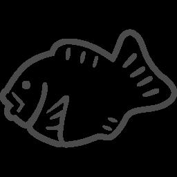 たい焼きの線画アイコン アイコン素材ダウンロードサイト Icooon Mono 商用利用可能なアイコン素材が無料 フリー ダウンロードできるサイト