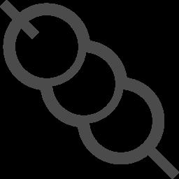 お団子のイラスト アイコン素材ダウンロードサイト Icooon Mono 商用利用可能なアイコン素材が無料 フリー ダウンロードできるサイト
