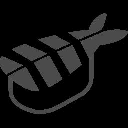 海老の寿司アイコン アイコン素材ダウンロードサイト Icooon Mono 商用利用可能なアイコン素材が無料 フリー ダウンロードできるサイト