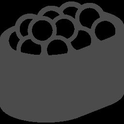 いくらの軍艦巻きのイラスト アイコン素材ダウンロードサイト Icooon Mono 商用利用可能なアイコン素材が無料 フリー ダウンロードできるサイト