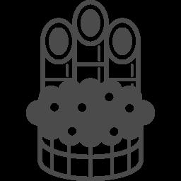 New Year S Pine Decoration Icon 3 アイコン素材ダウンロードサイト Icooon Mono 商用利用可能なアイコン素材が無料 フリー ダウンロードできるサイト