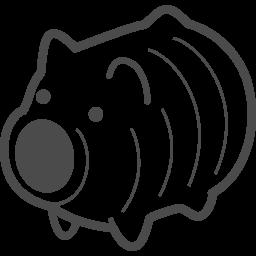 蚊取り豚の無料イラスト アイコン素材ダウンロードサイト Icooon Mono 商用利用可能なアイコン素材が無料 フリー ダウンロードできるサイト