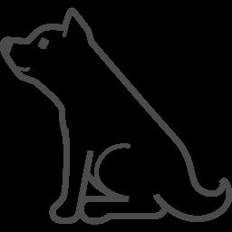 柴犬のイラスト アイコン素材ダウンロードサイト Icooon Mono 商用利用可能なアイコン素材が無料 フリー ダウンロードできるサイト