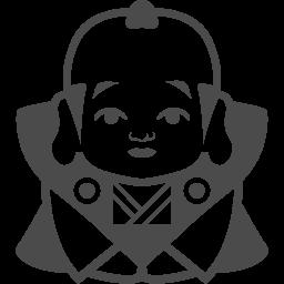 福助人形のフリーイラスト アイコン素材ダウンロードサイト Icooon Mono 商用利用可能なアイコン素材が無料 フリー ダウンロードできるサイト