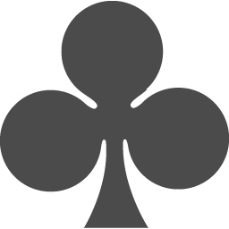 トランプのクローバーのマーク アイコン素材ダウンロードサイト Icooon Mono 商用利用可能なアイコン素材が無料 フリー ダウンロードできるサイト