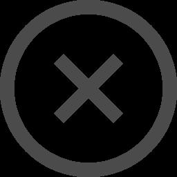 ノーマルの太さのバツアイコン2 アイコン素材ダウンロードサイト Icooon Mono 商用利用可能なアイコン素材が無料 フリー ダウンロードできるサイト