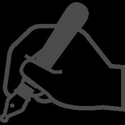 ペンを持つ手のアイコン アイコン素材ダウンロードサイト Icooon Mono 商用利用可能なアイコン素材が無料 フリー ダウンロードできるサイト