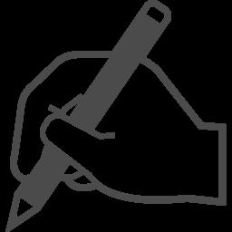 鉛筆を持つ手のアイコン アイコン素材ダウンロードサイト Icooon Mono 商用利用可能なアイコン素材が無料 フリー ダウンロードできるサイト